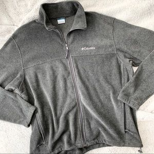 NWOT Columbia Fleece Jacket Grey XL